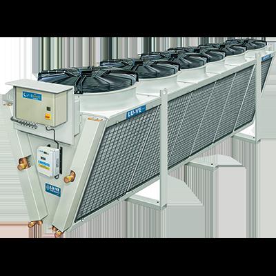 LU-VE XDHV V-elrendezésű szimpla ventilátorsoros kondenzátor